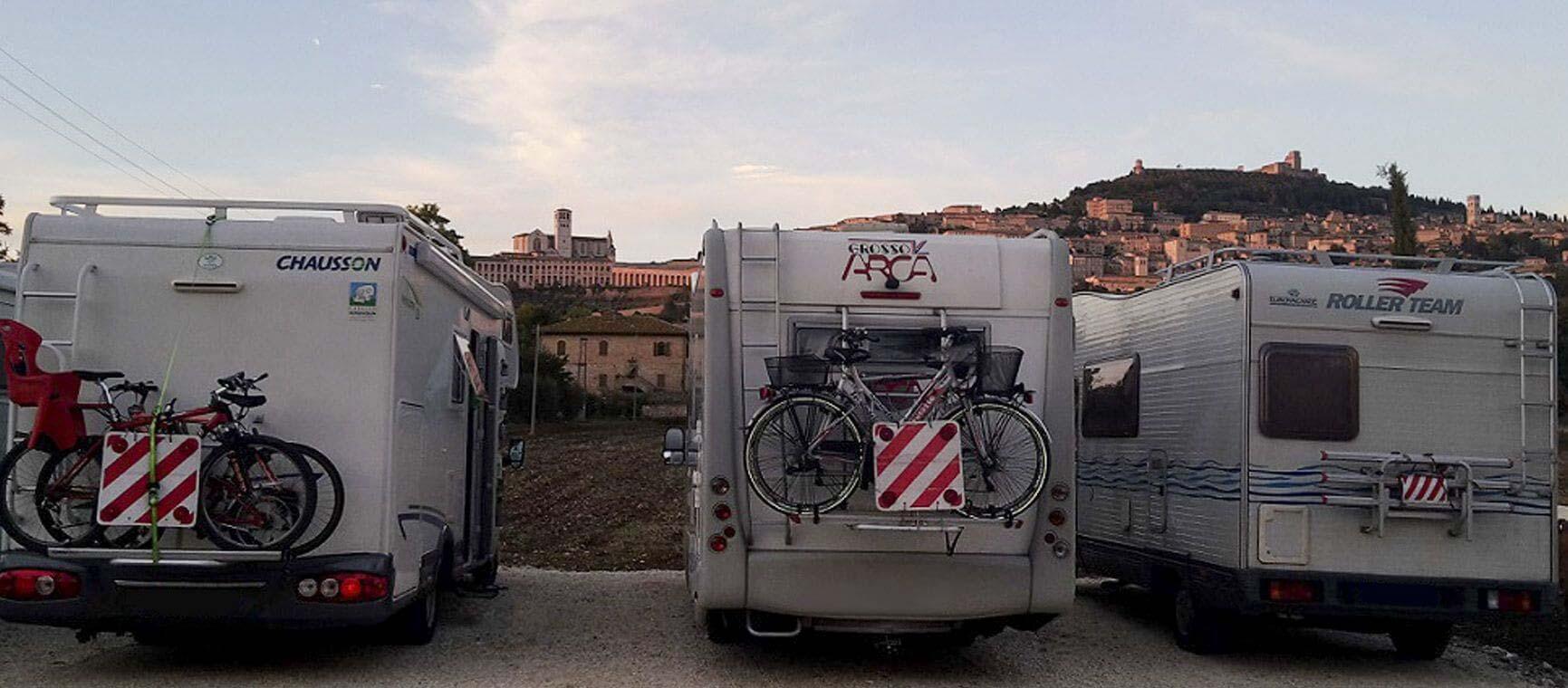 Vacanze in camper ad Assisi. Agrisosta All'Antica Mattonata