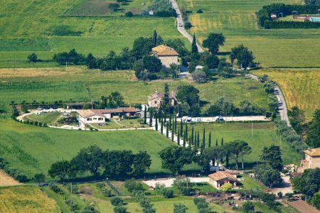 Il Bnb Agriturismo All'Antica Mattonata Assisi è in una splendida posizione, tranquilla e quieta