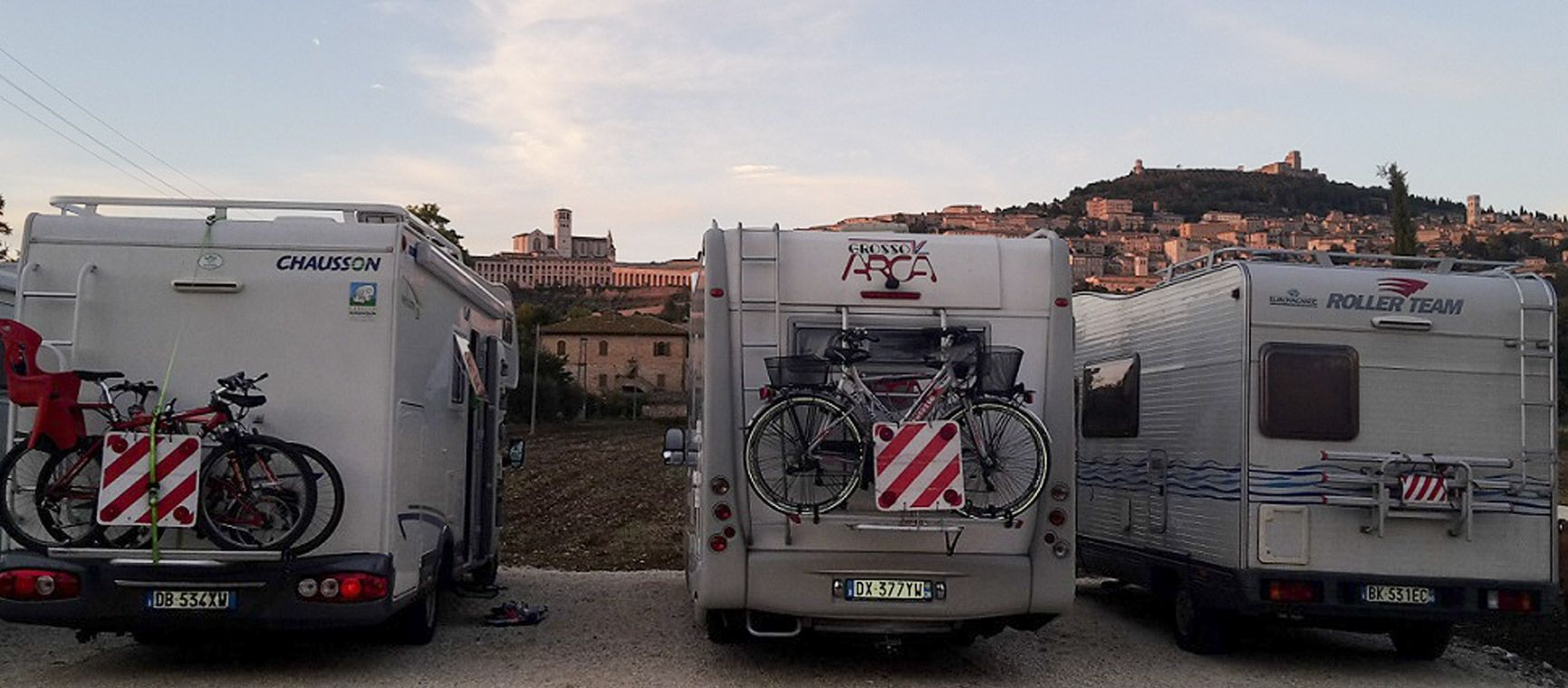 Vacanze in camper ad Assisi. Agrisosta All'Antica Mattonata