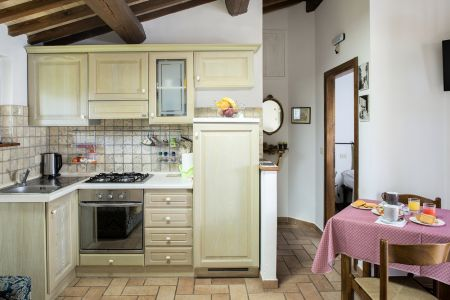 Holiday apartments with garden in Assisi All'Antica Mattonata