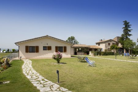 Relax area overview with sofas bnb farm holiday Assisi