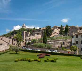 Assisi, San Francesco meadow of Basilica superiore