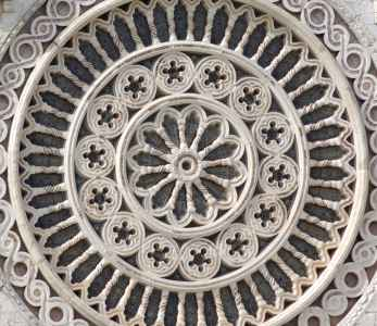 Rose window of the St. Francis Basilica in Assisi