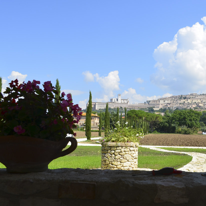 The farm holidays All'Antica Mattonata is surrounded by a green countryside