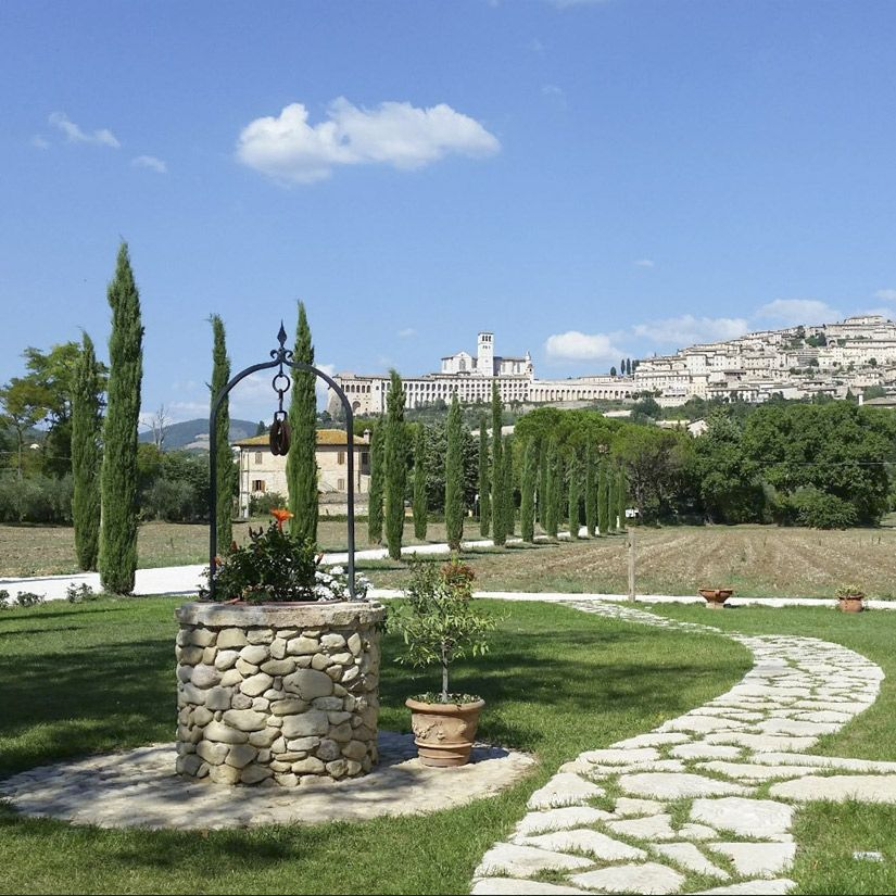 Farm holiday at the foot of Assisi, with views on the Basilica of San Francesco